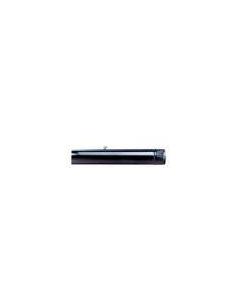 TUBO CHAPA VITRIFICADO NEGRO 120 X 25 cm CON LLAVE