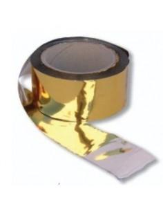 BANDA ESPANTAPAJAROS 100 m X 50 mm ORO/PLATA