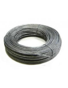 CABLE ACERO GALVANIZADO DIAM. 4 (6 X 7 +1) ROLLO 25 mL
