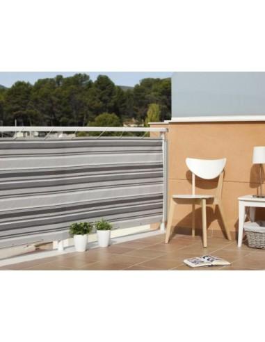 Malla balcony quality 0 9 x 3 gris marron bricomel for Toldos balcon baratos