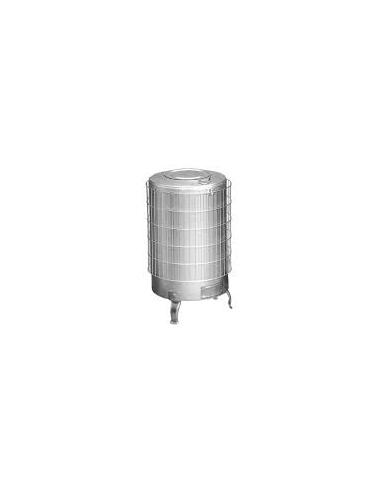 Estufa Le A Redonda N 7 Pintada Aluminio Con Parrilla 80 Cm
