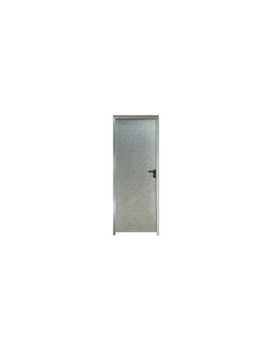 Puerta chapa galvanizada 80 x 2 m marco de 90 mm ciega izquierda bricomel - Puertas de chapa galvanizada ...