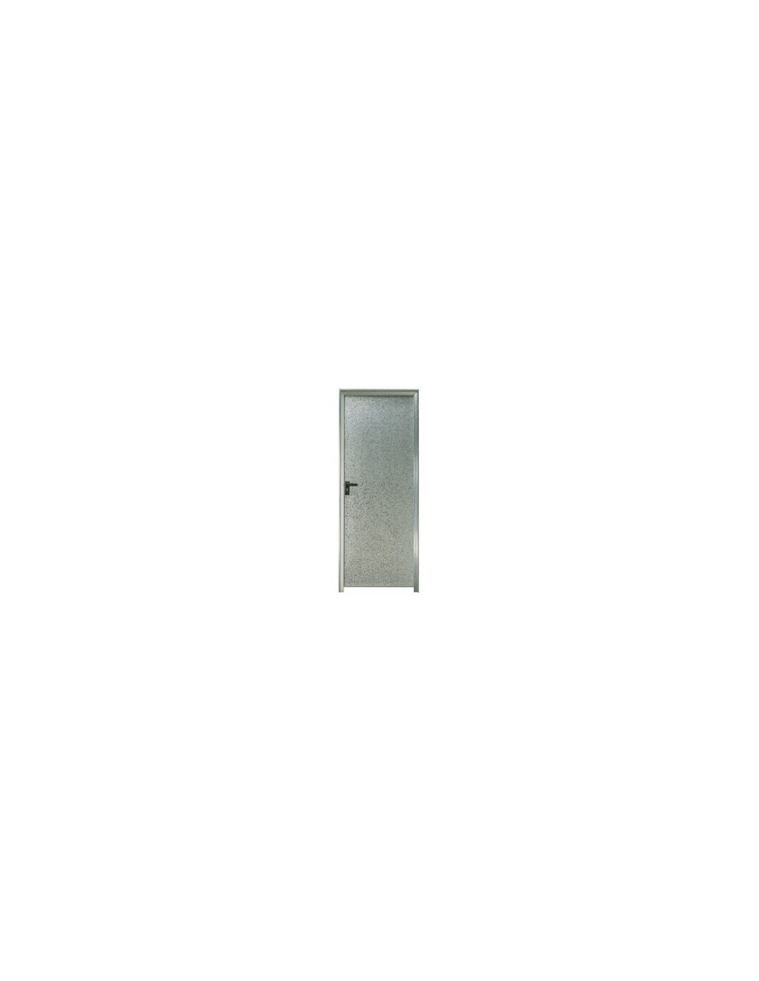 Puerta chapa galvanizada 100 x 2 m ciega marco de 90 mm for Puerta galvanizada