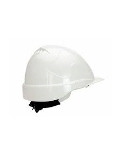CASCO PROTECCION BLANCO CON RULETA