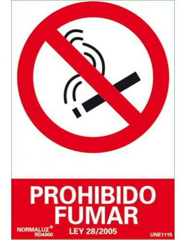 SEÑAL PROHIBIDO FUMAR 21 X 30