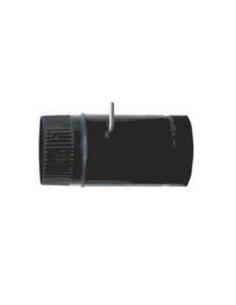 TUBO CHAPA VITRIFICADO NEGRO 100 X 25 cm CON LLAVE