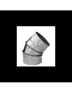 CODO CHAPA GALVANIZADA 300 X 45º