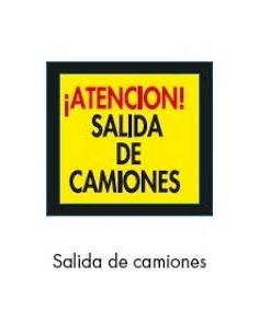 SEÑAL BOLSA PLASTICO SALIDA DE CAMIONES