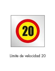 SEÑAL BOLSA PLASTICO LIMITE 20