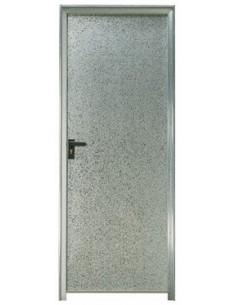 Puerta chapa galvanizada 80 x 2 m marco de 90 mm ciega for Puertas de chapa galvanizada