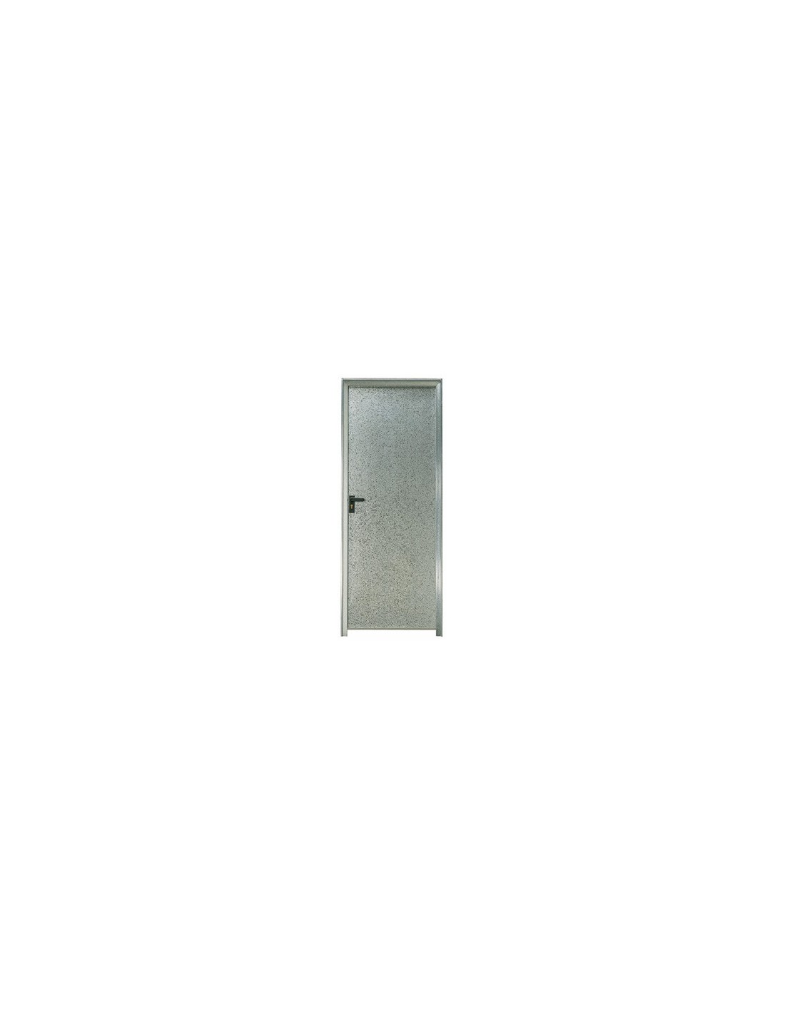 Puerta chapa galvanizada 80 x 2 m marco de 90 mm ciega derecha bricomel - Puertas de chapa galvanizada ...