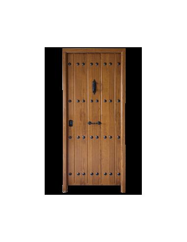 Puerta de chapa imit madera modelo triana bricomel - Puertas de chapa ...