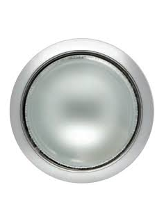 DOWNLIGHT NIQUEL SATINADO 2 X 26 W CON BOMBILLAS (CRISTAL MATE)