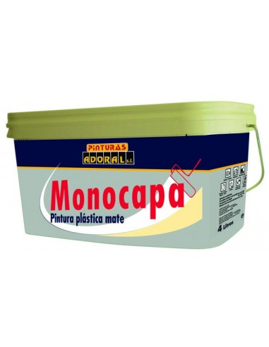 Pintura adoral mate monocapa crema 4 litros - Pintura monocapa bruguer ...