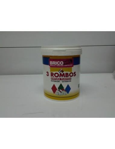 Pintura plastica blanca mate 3 rombos 750 ml bricomel - Pintura plastica blanca ...
