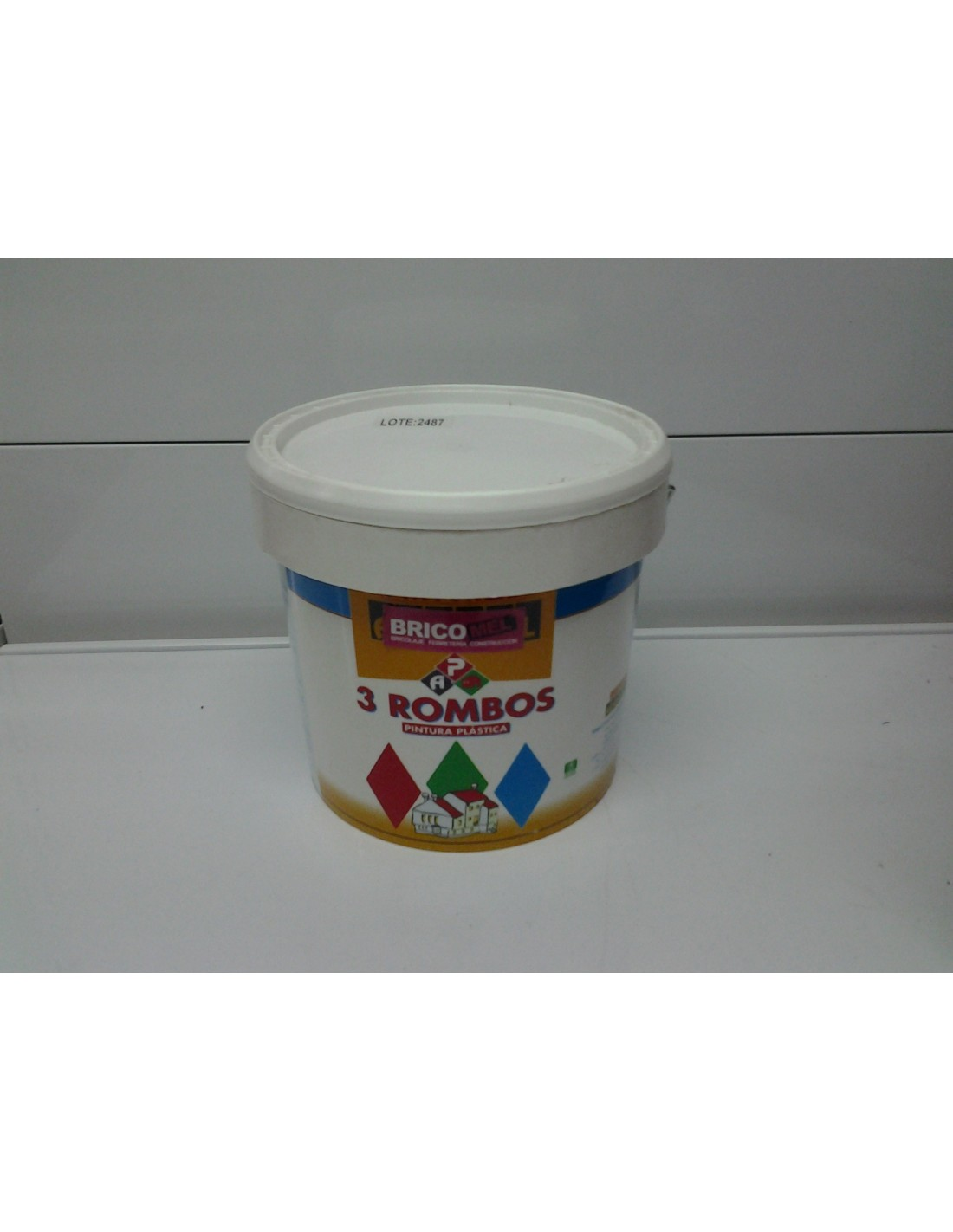 Pintura plastica blanca mate 3 rombos 3 lts bricomel - Pintura plastica blanca ...